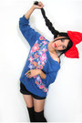 Black-levis-shorts-red-bow-headband-diy-accessories