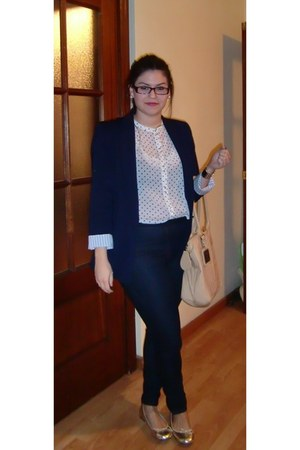 Zara jeans - Zara blazer - H&M shirt - Friss&Co bag - fun&basics flats
