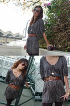 Topshop dress - vintage belt - Online Shop tights