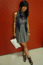 H&M scarf - Forever21 dress - GoJane shoes - Montip purse