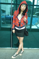 Marc Jacob jacket - skirt - Converse shoes