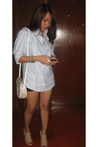 collezione shirt - Topshop shorts - Charles & Keith shoes - christian dior purse
