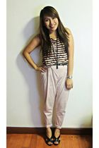 icandy at the ramp top - pink Zara pants - black Michael Kors shoes - black Fore