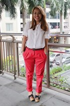 Zara pants - Forever 21 top - CMG wedges