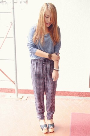 Topshop top - Forever 21 pants - CMG wedges