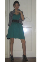 twelve by twelve dress - belt - Folded and Hung blazer - Pill shoes