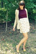 yellow Presh skirt - red Target top - yellow Target shoes - brown Old Navy cardi