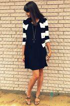 gold Forever 21 necklace - beige Steve Madden shoes - black Khols dress