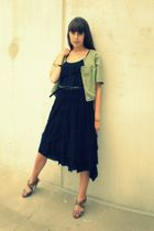 black Express top - black Macys skirt - black Forever 21 belt - beige Steve Madd