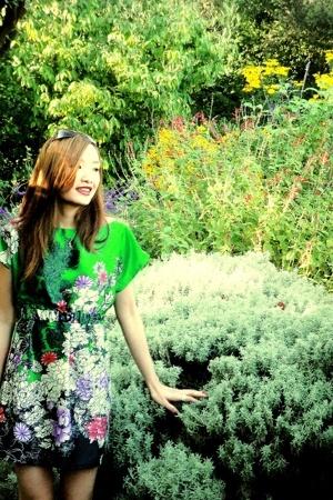 Zara dress - roberto cavalli sunglasses
