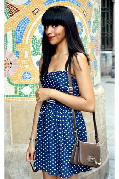 Blue Polka Dots Zara Trafaluc  Dress