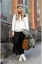 black volcom skirt - tawny rocco Alexander Wang bag - silver GINA TRICOT jumper