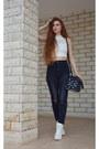 Dark-gray-h-m-jeans-black-lancetti-bag-white-primadonna-sneakers