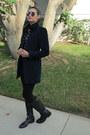 Velvet-zara-jacket-franco-di-sarto-boots-forever-21-leggings