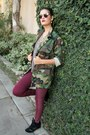 Wedge-steve-madden-sneakers-camo-thifted-coat-pleather-h-m-pants