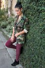 Camo-thifted-coat-pleather-h-m-pants-wedge-steve-madden-sneakers