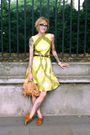 Yellow-vintage-dress-beige-topshop-purse-brown-vintage-belt-black-vintage-