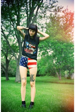 navy american flag noirohio vintage shorts
