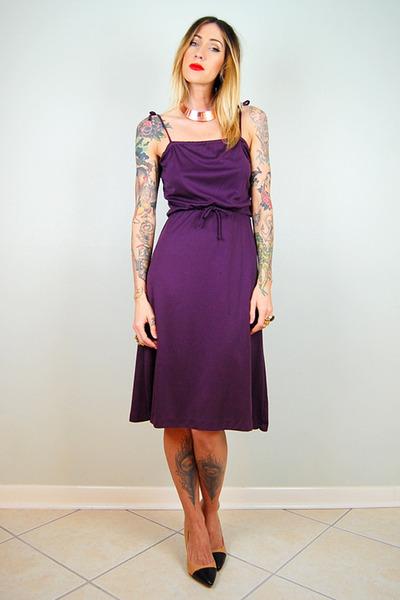 deep purple noirohio vintage dress
