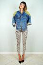 Beige-leopard-topshop-jeans-blue-acid-wash-levis-noirohio-vintage-jacket