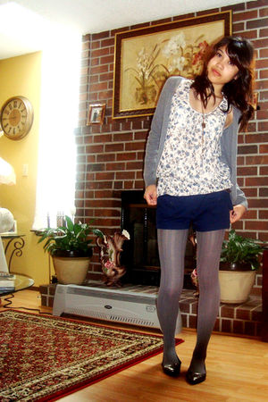 H&M cardigan - Rampage blouse - papaya shorts - Madden Girl shoes