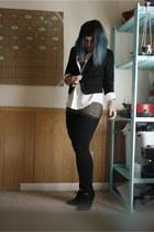 Urban Outfitters blazer - thrifted shirt - Target heels - Target pants