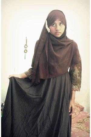Batik shirt - chiffon scarf