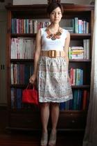Zara shoes - YSL purse - H&M for Marimekko necklace
