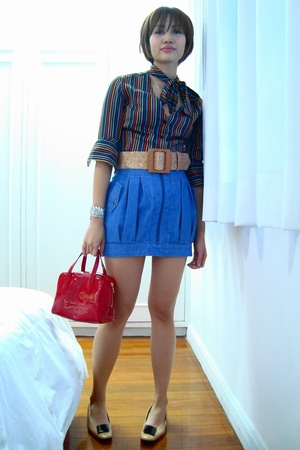 Paul Smith blouse - Topshop skirt - YSL purse - Topshop bracelet