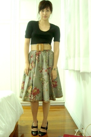 American Apparel shirt - H&M skirt - Topshop shoes - vintage belt - casio access