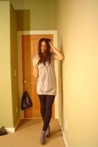 H&M dress - June leggings - Rugged boots