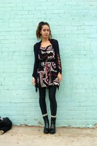Beacons closet sweater - dress - aa leggings -  socks - Ebay boots - thrifted ac