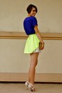 Ivory-lace-mini-h-m-skirt-chartreuse-honey-punch-skirt