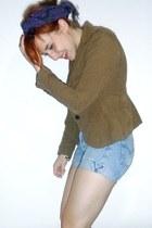 Ebay shoes - Zara blazer - thrifted shorts - H&M top