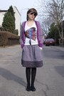 Ae-woman-sweater-claires-sunglasses-buffalo-london-flats-old-navy-skirt-