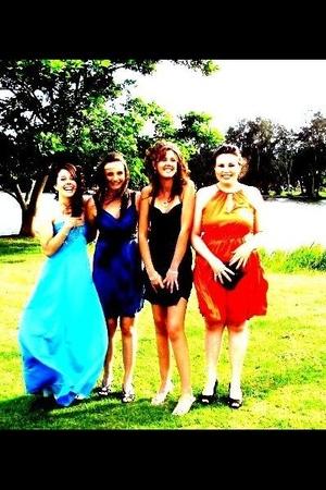 blue MINE dress - blue Bronwyns dress - purple Amandas dress - orange Micaelas d