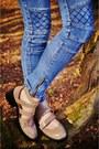 Beige-cut-out-topshop-shoes-sky-blue-denim-levis-shirt