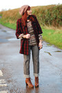 Tawny-bertie-boots-ruby-red-locally-bought-coat-tan-ff-hat