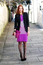 Freak Factory skirt - La Redoute blazer - asos tights - American Apparel bag
