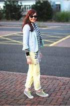 light yellow asos jeans - silver asos blazer
