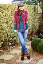 faux fur dune boots - Miss Sixty jeans - FF hat