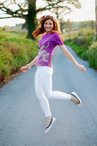 asos jeans - Freak Factory t-shirt - Sperry Top-Sider flats