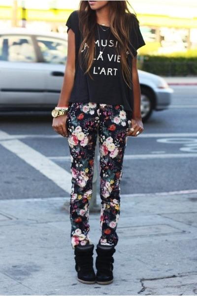 floral pants comme ca pants