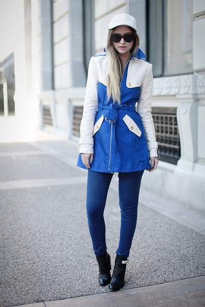 blue colorblock Jcrew jacket
