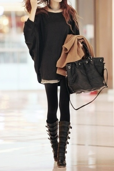 black basic Comme ca bag