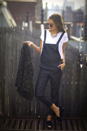 overall leather unknown brand jumper