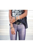 metallic jeans unknown jeans