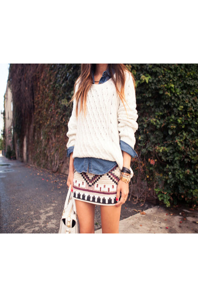 aztec winter unknown brand skirt