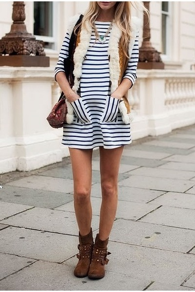 stripes Elizabeth Charles dress