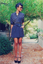 polka dot Comme ca dress